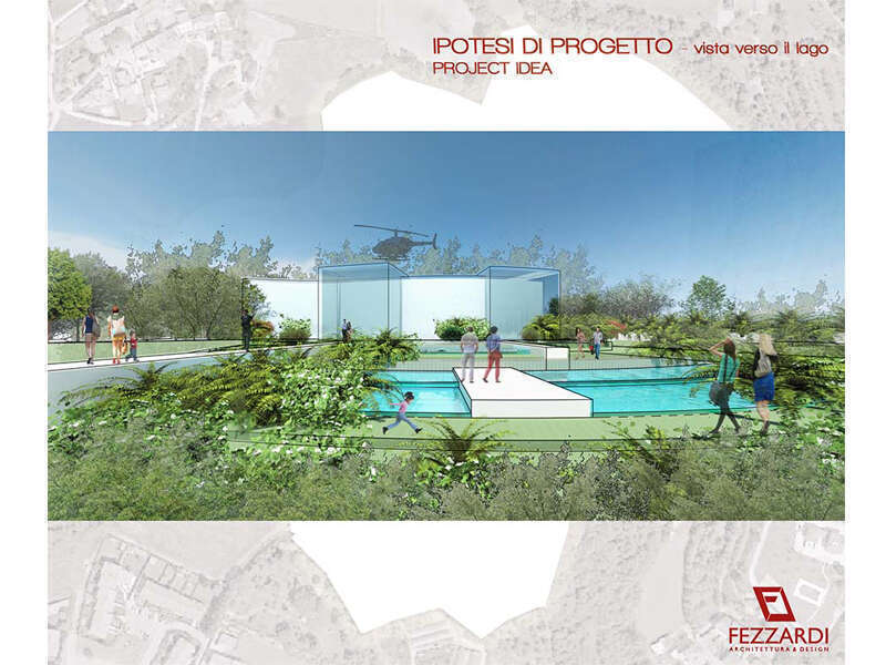 masterplan residenziale commerciale in collina